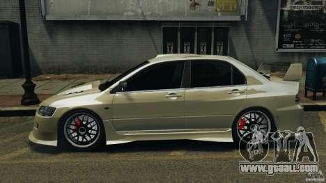 Mitsubishi Lancer Evolution VIII v1.0 for GTA 4 left view