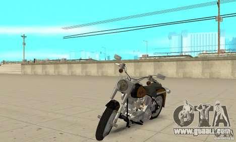 Harley Davidson FLSTF (Fat Boy) v2.0 Skin 3 for GTA San Andreas