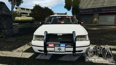 Ford Crown Victoria Police Unit [ELS] for GTA 4 interior