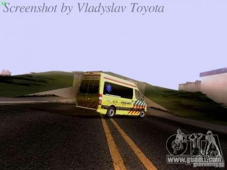 Mercedes-Benz Sprinter Ambulance for GTA San Andreas upper view