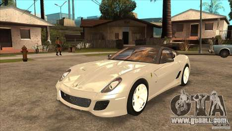 Ferrari 599 GTO 2010 V1.0 for GTA San Andreas inner view