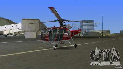 IAR 316B Alouette III SMURD for GTA Vice City left view