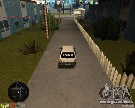 VAZ 11113 OKA for GTA San Andreas back left view
