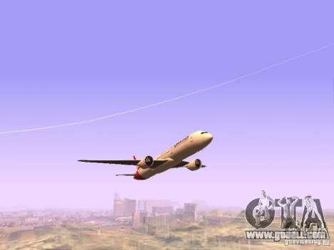 Boeing 787 Dreamliner Qantas for GTA San Andreas back view