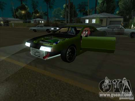 Elegy Green Line for GTA San Andreas back view