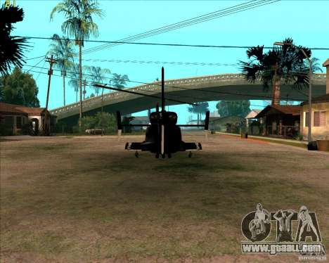 Airwolf for GTA San Andreas right view