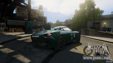 Aston Martin V12 Zagato 2012 for GTA 4 back left view