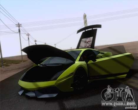 Lamborghini Gallardo LP570-4 Superleggera 2011 for GTA San Andreas back left view