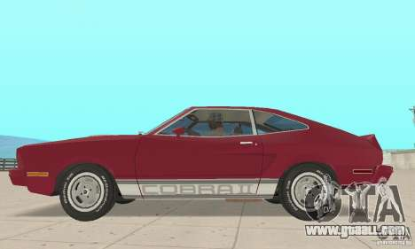 Ford Mustang II 1976 Cobra v. 1.01 for GTA San Andreas back left view