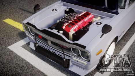 Nissan Skyline 2000 GT-R Drift Tuning for GTA 4 back view
