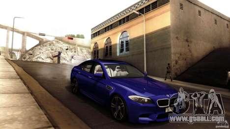 BMW M5 F10 2012 for GTA San Andreas interior