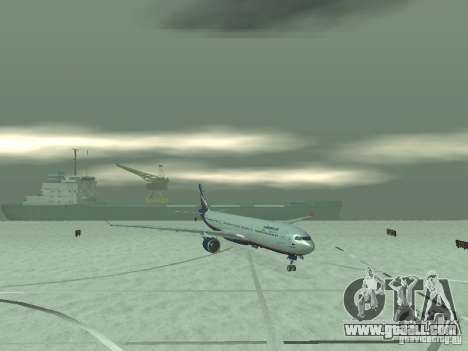 The Airbus A330-300 Aeroflot for GTA San Andreas back left view