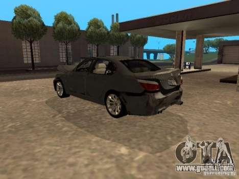 BMW M5 E60 2009 v2 for GTA San Andreas engine