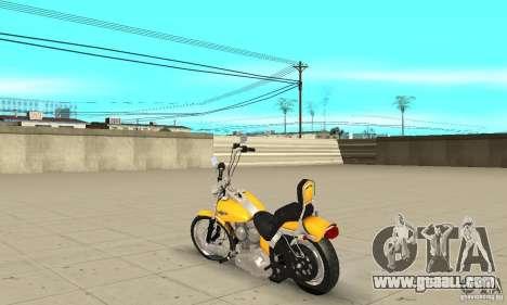 Harley Davidson softail Skin 1 for GTA San Andreas back left view