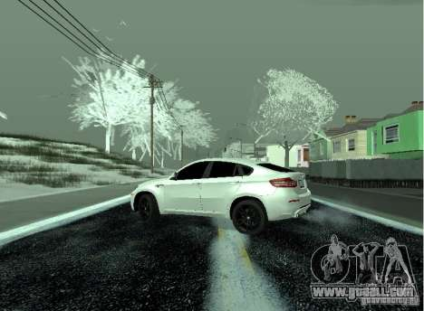 BMW X6M E72 for GTA San Andreas back left view