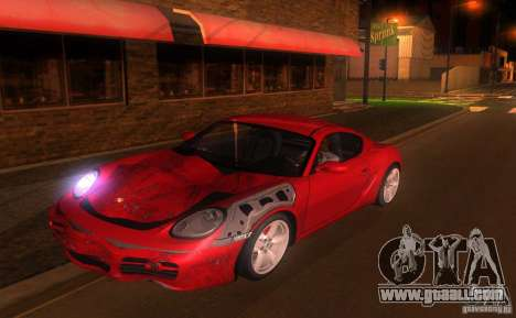 Porsche Cayman S for GTA San Andreas upper view