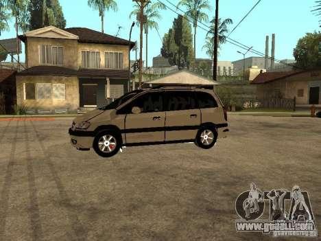 Opel Zafira for GTA San Andreas left view