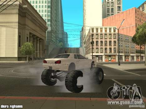 Elegy Monster for GTA San Andreas back view