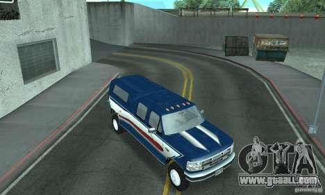 Ford F-350 1992 for GTA San Andreas interior
