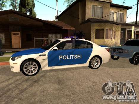 BMW 5-er Police for GTA San Andreas left view