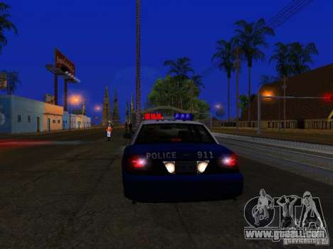 Ford Crown Victoria Belling State Washington for GTA San Andreas inner view
