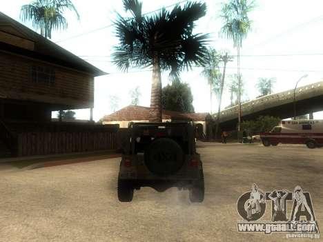 Jeep Wrangler 1986 4.0 Fury v.3.0 for GTA San Andreas back left view