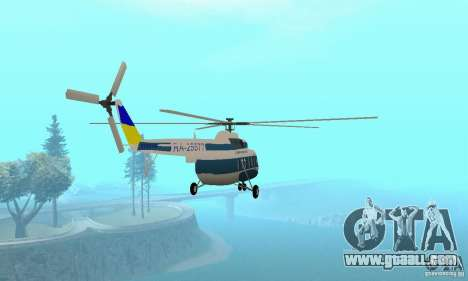 MI-17 civil (Ukrainian) for GTA San Andreas left view