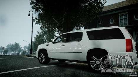 Cadillac Escalade ESV for GTA 4 right view