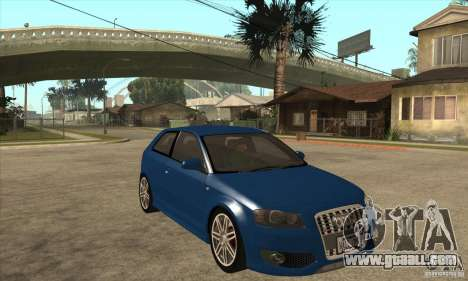 Audi S3 2007 - Stock for GTA San Andreas back view