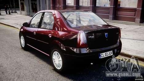 Dacia Logan 2007 Prestige 1.6 for GTA 4 right view