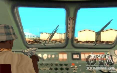 Lokomotiv ChS7-082 for GTA San Andreas back view