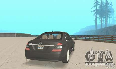 Mercedes-Benz S500 (w221) 2006 for GTA San Andreas left view