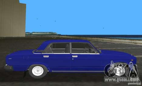 VAZ 2107 LADA car for GTA Vice City left view