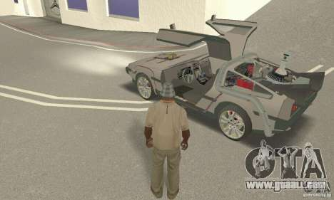 DeLorean DMC-12 (BTTF3) for GTA San Andreas back view