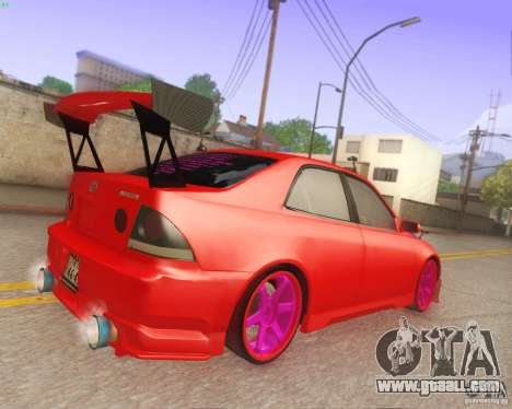 Toyota Altezza Drift Style v4.0 Final for GTA San Andreas inner view