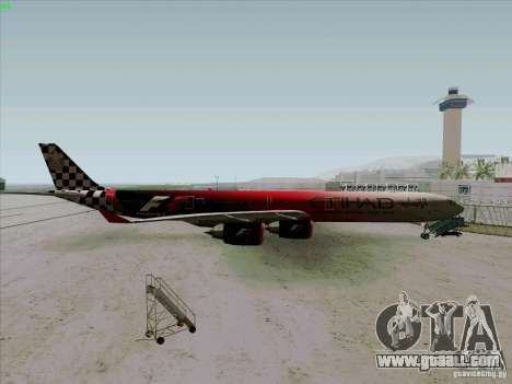 Airbus A-340-600 Formula 1 for GTA San Andreas left view