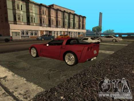 Chevrolet Corvette C6 for GTA San Andreas left view