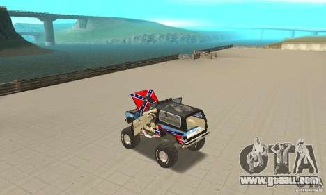 Chevrolet Blazer K5 Monster Skin 1 for GTA San Andreas inner view