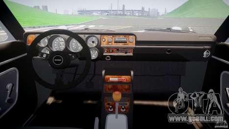 Nissan Skyline GC10 2000 GT v1.1 for GTA 4 back view