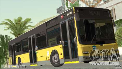 MAN Lion City for GTA San Andreas back left view