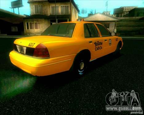 Ford Crown Victoria 2003 TAXI for GTA San Andreas back left view