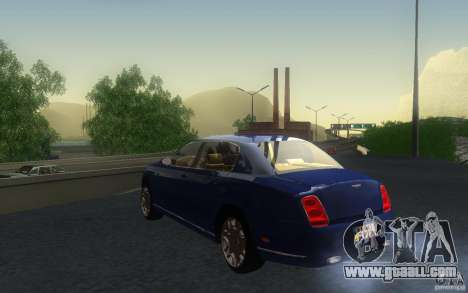 Bentley Continental Flying Spur for GTA San Andreas inner view