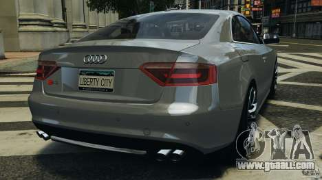 Audi S5 v1.0 for GTA 4 back left view