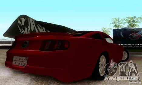 Ford Mustang 2010 for GTA San Andreas back left view