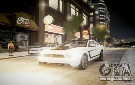 Ford Mustang 2012 Boss 302 v1.0 for GTA 4 back left view