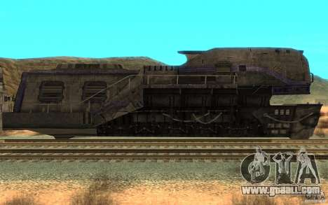 A train from the game Aliens vs Predator v1 for GTA San Andreas left view