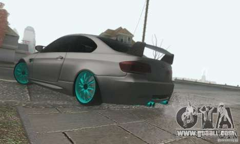 BMW M3 E92 Hellaflush v1.0 for GTA San Andreas back view
