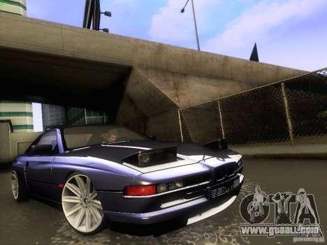 BMW 850 CSI for GTA San Andreas inner view