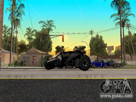 Tumbler Batmobile 2.0 for GTA San Andreas left view