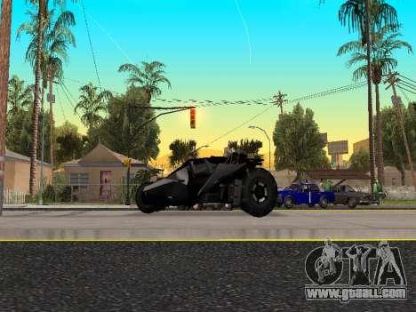 Tumbler Batmobile 2.0 for GTA San Andreas left view
